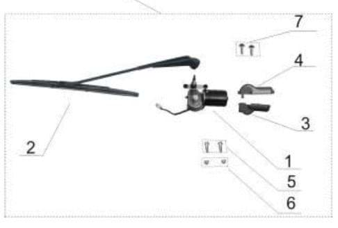 Picture of Windshield wiper blade & arm assembly