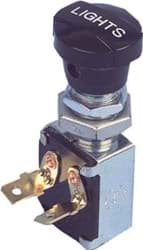 Picture of Push pull light switch with two male spade terminals