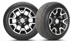 Picture of 215/40-12 C254 with 12x7 inch Atlas Gloss Black Wheel, Pass Side