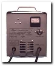 Picture of 42-volt automatic charger. Lester model #14390 with gray SB50 DC plug