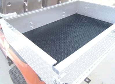 Picture of Diamond plate black rubber cargo box mat