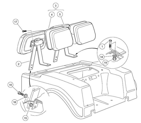 Picture of Seat Back Assembly (white)