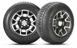 Picture of 205/55-10 Loadstar with 10x7 inch Atlas Gloss Black Wheel