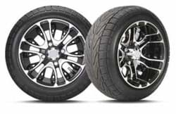 Picture of 215/40-12 C254 With 12x7 Inch Mercury Gloss Black Wheel, Pass Side