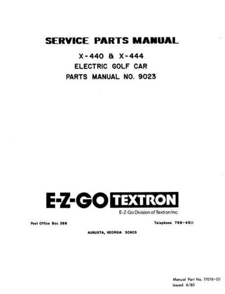 Picture of MANUAL-PARTS-ELECTRIC-1980-81