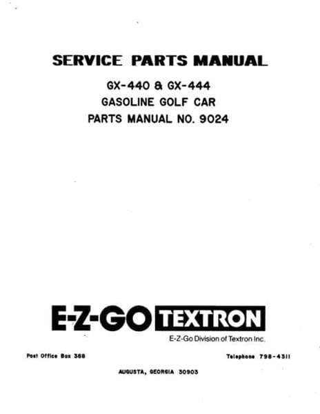 Picture of MANUAL-PARTS-GAS-GC-1980-1981
