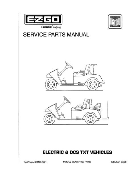 1997 - 1998 - E-Z-GO - SM - All elec/utility | Carrus ...