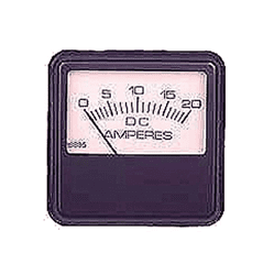 Picture of 48-volt/20 amp ammeter, square