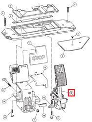Picture of Accelerator pedal assembly, no sensor