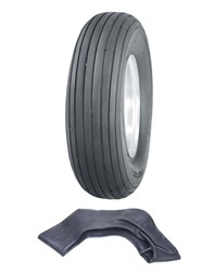 Picture of 4.80/4.00x8 4ply Multi rib tyre & tube set (TR13)