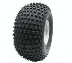 Picture of 22x11.00-8 4pr Wanda P323 Knobby tyre E-marked TL 43J on steel rim 4/100/60, 154kg load capacity