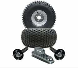 Picture of ATV Trailer Kit, 22x11.00-8 4pr P323 Knobby tyre, Hub/stub axle 35x35mm, pressed hitch