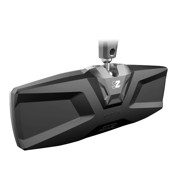 Picture of halo-ra rear view mirror w/cnc aluminum billet bezel - 1.75