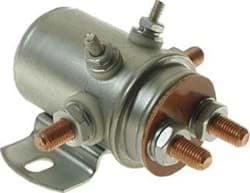 Picture of 12-volt, 6 terminal, #71 series solenoid with copper contacts.