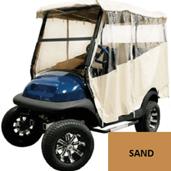 Picture of 3-SIDED TRACK STYLE ENCLOSURE, sand